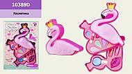"""Косметика """"Фламинго"""" 2 яруса, тени, помады, лак, кисточки , 10389D, фото"""