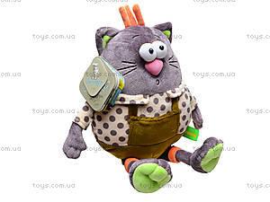 Плюшевый кот «Мурлик», К386В, игрушки