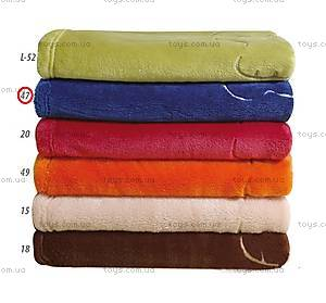 Детское одеяло из микрофибры «Пушистик», синее, 0179-47