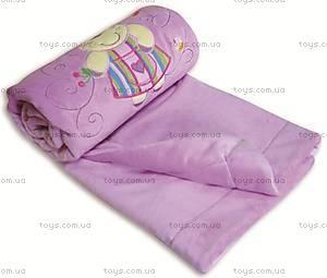 Одеяло из плюша с аппликацией, фиолетовое, 0138-19