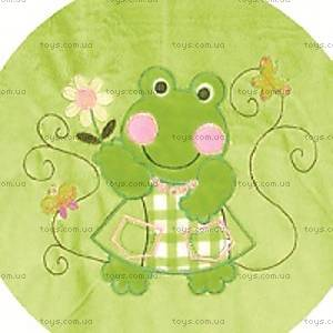 Одеяло плюшевое с аппликацией, зеленое, 0138-L-52, купить