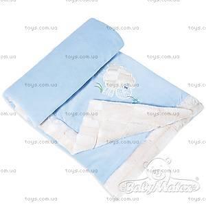Детский плед Lambs, голубой, 0202-24