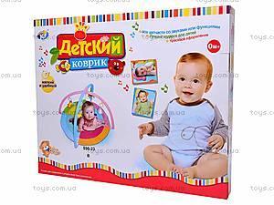 Коврик для малышей, с дугой и сумкой, 898-23B, купить