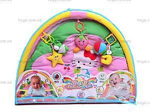 Коврик для малышей, с погремушками, 289-8A, игрушки