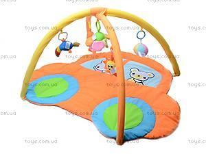 Коврик для малышей, с погремушками на дуге, 898-26B