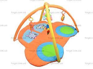 Коврик для малышей, с погремушками на дуге, 898-26B, купить