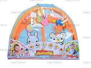 Коврик для малышей, с погремушками на дуге, 898-26B, фото