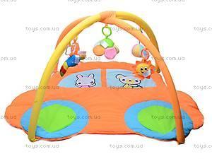 Коврик для малышей, с погремушками на дуге, 898-26B, цена