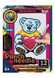 """Ковровая вышивка """"Punch needle: Медведь с сердечком"""" , PN-01-01,02,0, купить"""