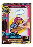 """Ковровая вышивка """"Punch needle: Мишка на луне"""" , PN-01-01,02,0, детские игрушки"""
