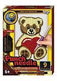 """Ковровая вышивка """"Punch needle: Мишка с сердечком"""", PN-01-01,02,0, цена"""