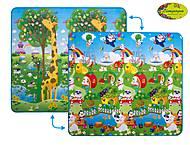 Коврикдвухсторонний для детей «Большой жирафиПаркразвлечений»,200х180см, LP004-200