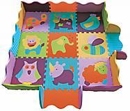 Коврик-пазл для детей «Веселий зоопарк», с бортиком, GB-M129А2Е, купить