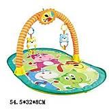 Коврик с погремушками для малышей развивающий, HX9103-1, детские игрушки