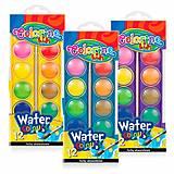 Краски акварельные большие таблетки 12 цветов Colorino, 41089PTR, купить игрушку
