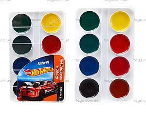 Краски акварельные для рисования Hot Wheels, HW14-060K