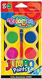 Краски акварельные Jumbo 8 цветов и кисточка Colorino, 32612PTR, игрушка