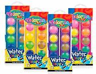 Краски акварельные маленькие таблетки 12 цветов Colorino, 41508PTR, оптом