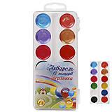 """Краски акварельные медовые 12 цветов """"Жемчужина"""" (8 цветов + 4 перламутровых) 5 наборов в упаковке, ТЕ15052, цена"""