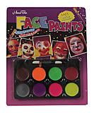 Краски для лица, 8 цветов с кисточкой, LC1738, фото