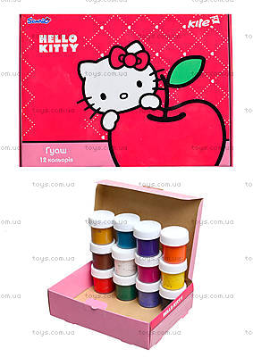 Краски гуашь Kite Hello Kitty, 12 цветов, HK13-063K