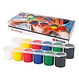 Краски пальчиковые, 12 цветов по 25мл, RP12