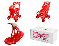 Красная коляска для кукол, 012003, фото