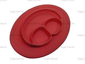 Красная силиконовая тарелка , 139