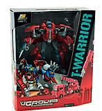 Красный трансформер T-WARROR, J8016B, купить