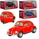 Красный Volkswagen Beetle, KT50 WM