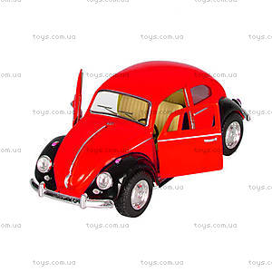 Красный Volkswagen Classical Beetle (Black Fender), KT50 WE