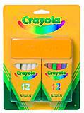 Крайола.Крейда біла та кольрова з губкою;3+  Crayola (176604), 98268, фото