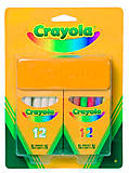 Крайола.Крейда біла та кольрова з губкою;3+  Crayola (176604), 98268, отзывы
