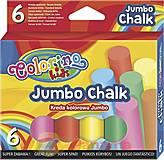 Мел цветной JUMBO 6 цветов, 65818PTR, іграшки