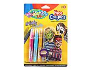 Карандаши для детского грима металлик, 5 цветов, 80054PTR, фото
