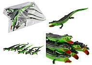 Крокодил резиновый с пищалкой, 6 штук в упаковке, H38W, фото