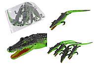 Крокодил игрушечный резиновый, с пищалкой, H9702W, купить