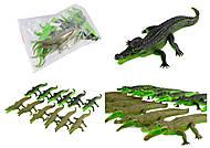 Крокодил резиновый, с пищалкой, 2 вида, H9708W, отзывы