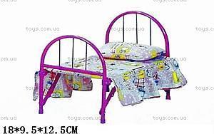Кровать для куклы, 9342 (HT)