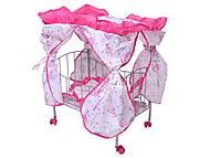 Кровать для куклы, с балдахином, 9350 (HT)