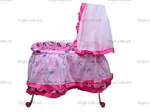 Кровать для куклы, с люлькой и балдахином, 9376, купить