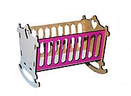 Кровать-люлька для кукол (бело-розовая), Б3, фото