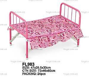 Кроватка для куклы Fei Li, PZ-4791A/FL983