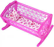 Кроватка для куклы, розовая, KK01