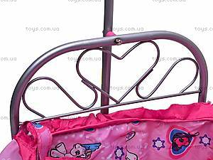 Кроватка для куклы, с балдахином, 9375, фото