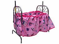 Кроватка для куклы, с балдахином, 9375, отзывы