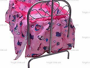 Кроватка для куклы, с балдахином, 9375, цена