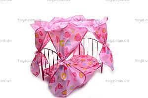 Кроватка для куклы, с рюшами, 9350Е