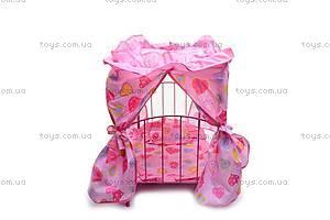 Кроватка для куклы, с рюшами, 9350Е, фото
