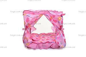 Кроватка для куклы, с рюшами, 9350Е, отзывы